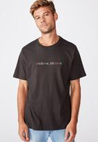 Cotton On - Tbar text T-shirt - washed black