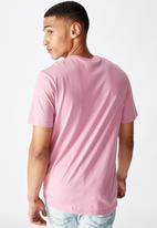 Cotton On - Tbar text T-shirt - faded fuschia
