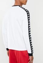 KAPPA - Authentic dixon sf sweat - white