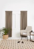 Sixth Floor - Taped striped frosted voile - taupe