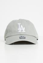 47 Brand - Mlb -  colour run clean up - dodgers - light grey