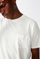 Cotton On - Slub crew neck tee - vintage white