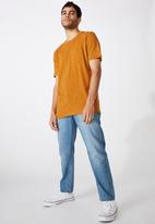 Cotton On - Slub crew neck tee - rich camel