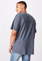 Cotton On - Loose fit washed pocket tee - dusty denim