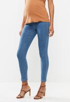Missguided - Maternity over bump vice superstretchy skinny jean - blue