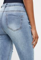 Missguided - Maternity sinner over bump authentic ripped skinny jean - blue