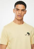 RVCA - Continent hex fill short sleeve tee - yellow
