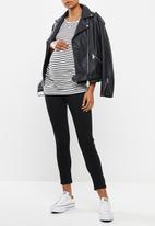 Missguided - Maternity over bump vice superstretchy skinny jean - black