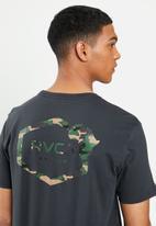 RVCA - Continent hex fill short sleeve tee - off black