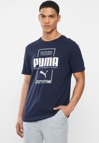 PUMA - Box puma tee - navy