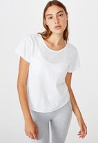 Cotton On - Lifestyle twist back T-shirt -white