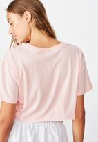 Cotton On - Active cropped T- shirt - pink sherbet marle