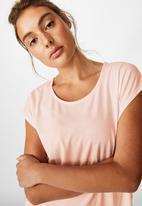 Cotton On - Active scoop hem T-shirt -pink sherbet
