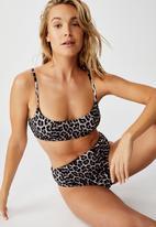 Cotton On - Highwaisted banded cheeky bikini bottom - animal shirred