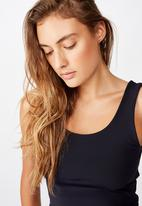 Cotton On - Lifestyle scoop back vestlette -navy
