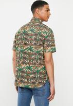 Mami Wata - I am the ruler regular fit shirt - brown & green