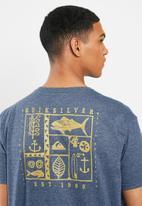 Quiksilver - Moonlit ocean short sleeve tee - blue