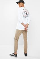 Quiksilver - Close call long sleeve tee - white