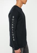Quiksilver - Blind alley long sleeve tee - black