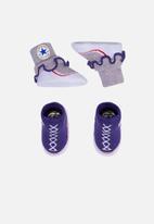Converse - Frilly Chucks 2 pack - purple & grey