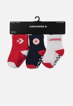 Converse - Converse star gripper pack - red & black