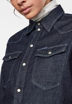 G-Star RAW - Western denim relaxed shirt long sleeve - blue