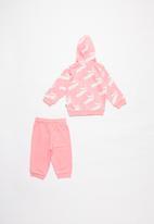 PUMA - Minicats amplified jogger set - pink & white
