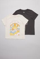 Free by Cotton On - Multipack primrose classic T-shirt  - grey & beige