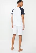 Brave Soul - Fluorite sleepwear - white & navy
