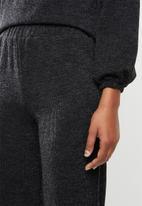 edit - Cosy knit jogger - black