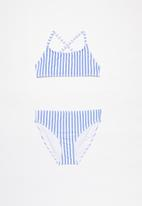Rebel Republic - Striped two piece swimsuit - blue & white
