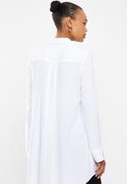 edit - Soft longline shirt - white