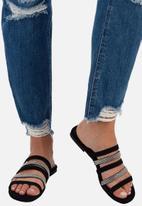Sissy Boy - Sit tight flat strappy sandal - black