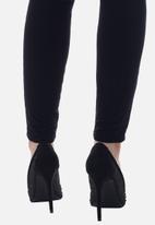 Sissy Boy - Bling it back court heel with bling  - black
