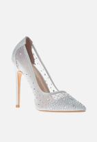 Sissy Boy - Bling it back court heel with bling  - white