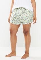 Cotton On - Curve jersey bed short - multi