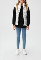 MANGO - Quilted gilet - white