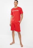 Brave Soul - Debut sleepwear - red & white