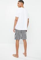 Brave Soul - Mono sleepwear - white & black