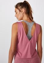Cotton On - Lifestyle tank top -washed rose marle