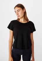 Cotton On - Lifestyle twist back T- shirt -black