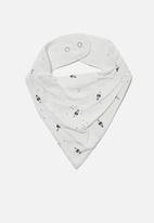 Cotton On - The kerchief bib - black & white