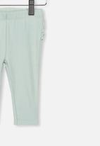 Cotton On - Quinn ruffle legging - stone green