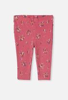 Cotton On - Quinn ruffle legging - pink