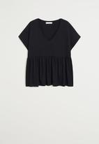 MANGO - T-shirt vikydoll - black