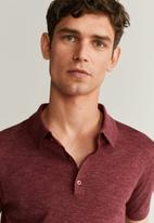 MANGO - Andrew polo shirt - red