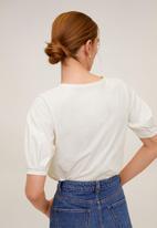 MANGO - T-shirt vicky - white