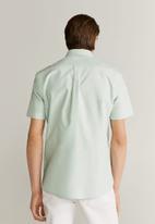 MANGO - Oxfi shirt - green