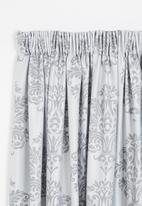 Sixth Floor - Taped lined woven jacquard curtain - grey