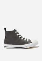 Cotton On - Classic high top trainer - grey smooth